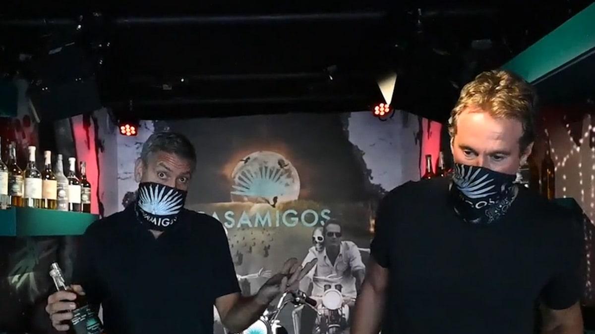 George Clooney, Rande Gerber Bringing Halloween Spirit To Celebs, Fans photo