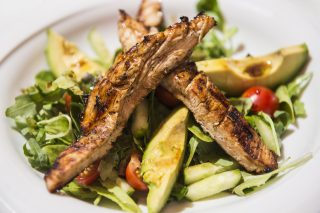 Delicious Chargrilled Chicken Salad Recipe With Avocado And Peppers photo