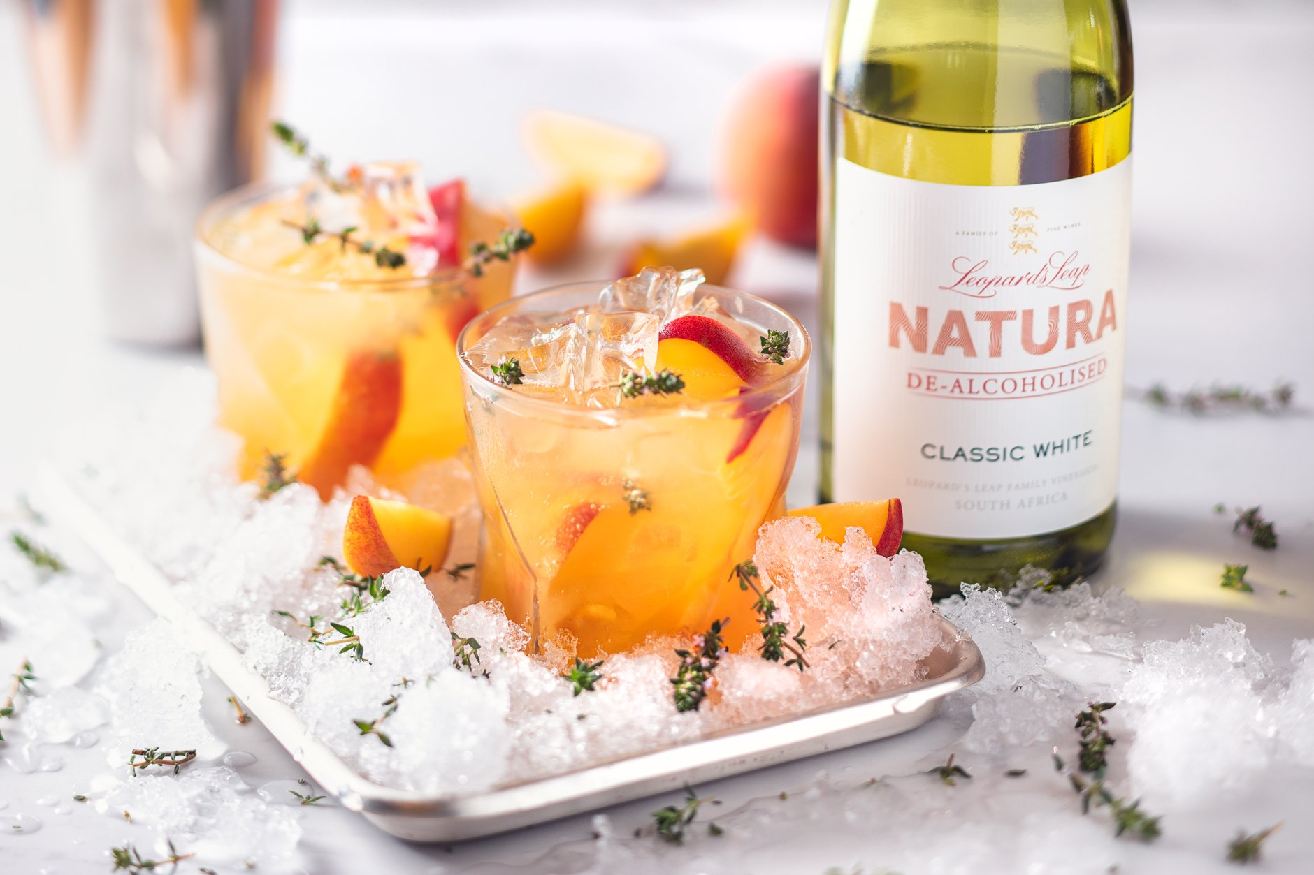 Cheeky Peach Mocktail Recipe For Sober October photo