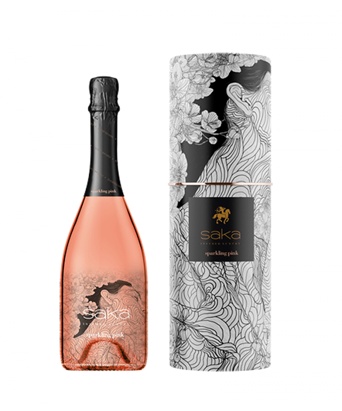saka sparkling pink 700x842 Live The High Life With These Cannabis Champagne Replicas