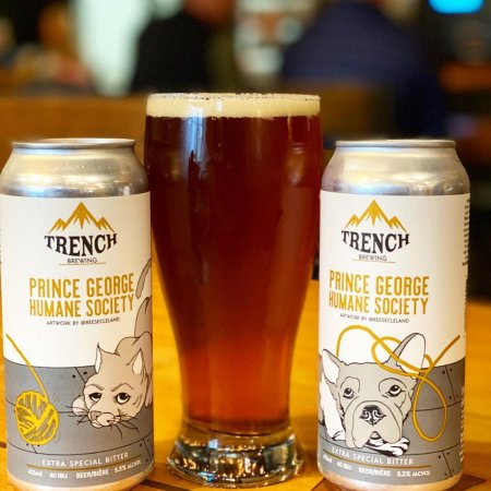 Trench Brewing Releases Charity Beer For Prince George Humane Society photo