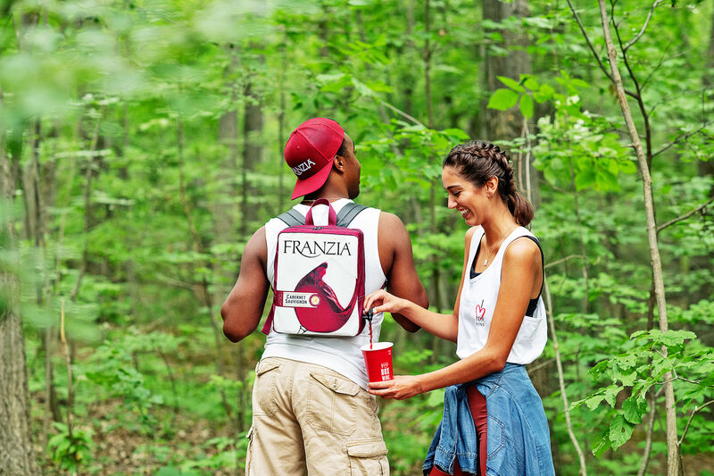 Boxed Wine Brand Creates  Wine-Dispensing Backpack For Hikers Who Love Vino! photo