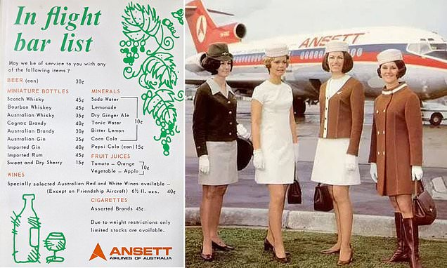 Ansett Airlines 1970s Menu Shows How Cheap It Was To Fly photo