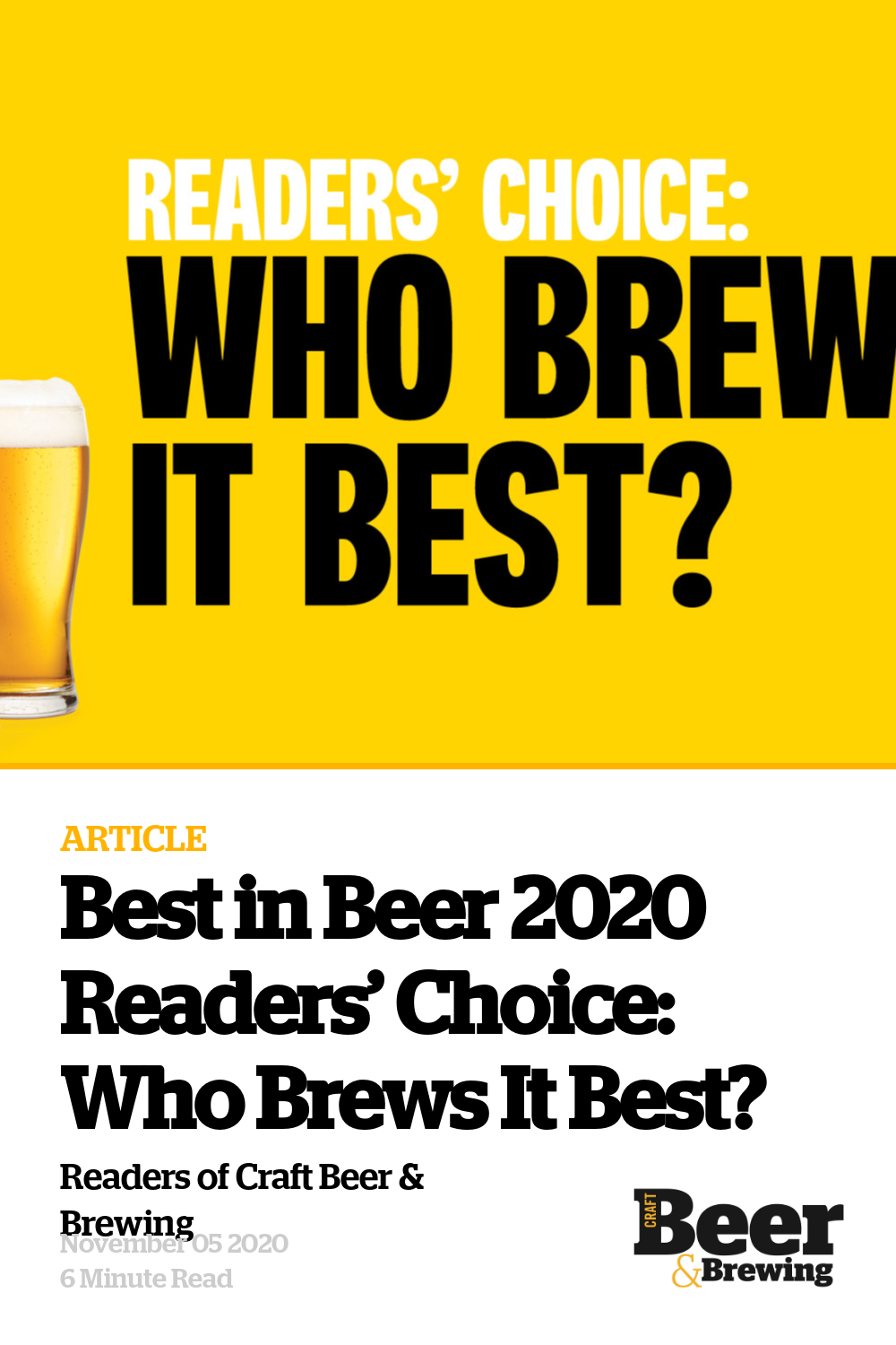 Best In Beer 2020 Readers' Choice: Who Brews It Best? photo