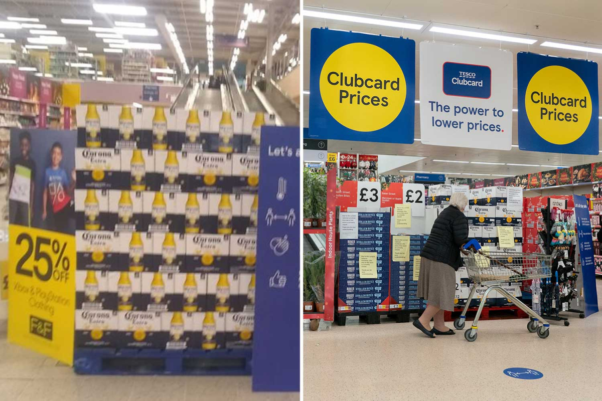 Tesco Shoppers Furious As 'non-essential' Items Blocked With Corona Beer photo