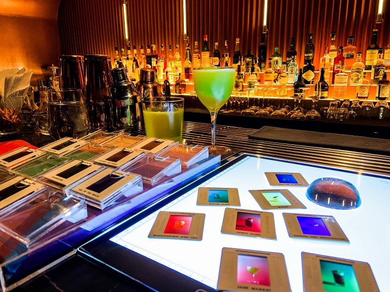Found The Photo Booth? Now Scan The Slides For Its New Cocktail Menu. photo