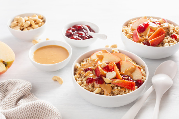 Protein-packed Quinoa Breakfast With Apples And Nuts photo