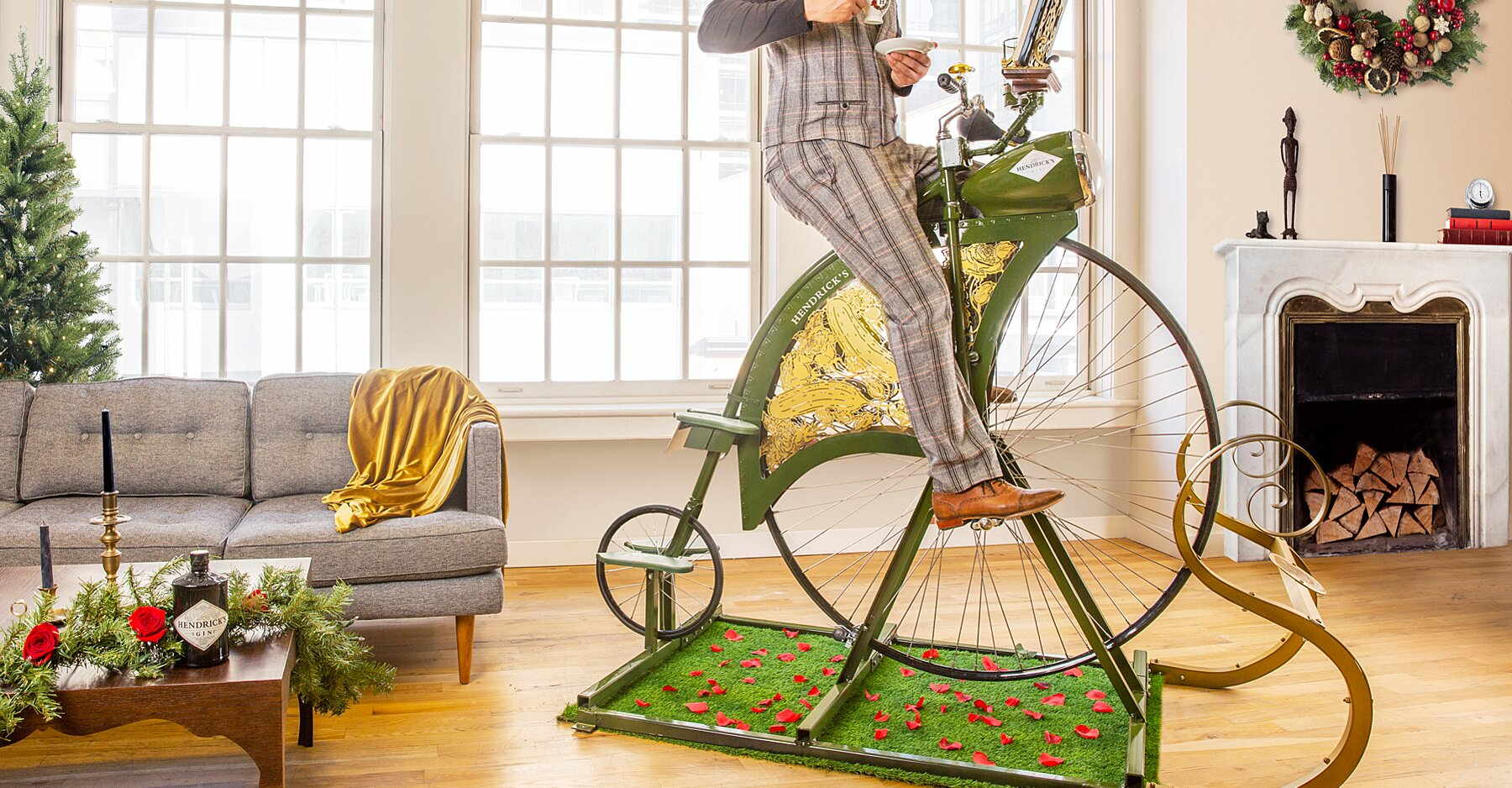 Hendrick's Gin Just Released An Exercise Bike So You Can Pedal For Cocktails photo