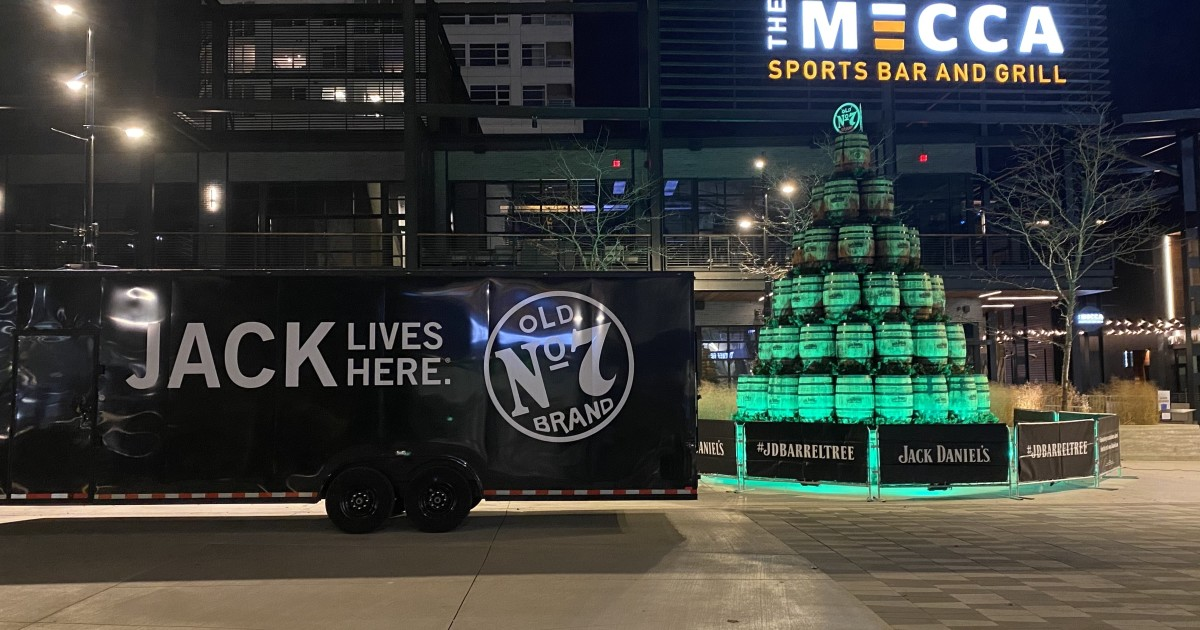 Jack Daniel's Barrel Tree Now On Display Outside Of Fiserv Forum photo