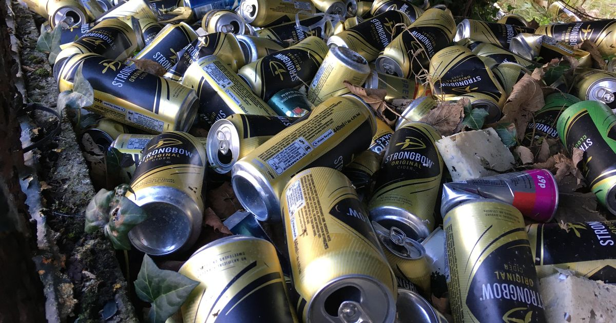 Hundreds Of Empty Cider Cans Thrown Over Fence In Townhill photo
