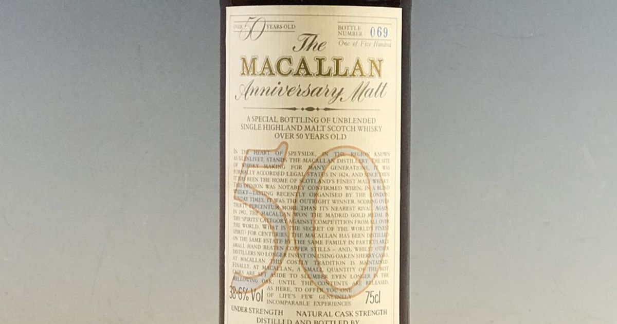 Macallan Whisky Sold For £57,500 At Auction After Being Bought For Just £80 photo