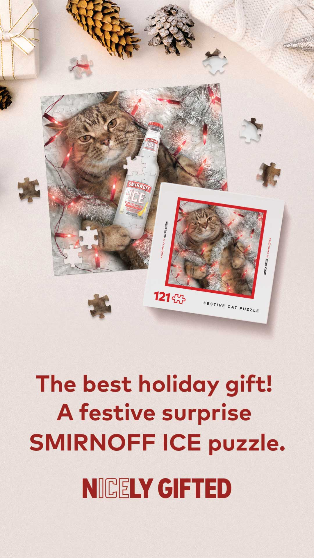 Smirnoff Ice And Luxury Home Goods Brand Cremsiffino Are Back With A Last Minute Holiday Gift Idea For Everyone On Your Nice List: Smirnoff Nicely Gifted Puzzles photo
