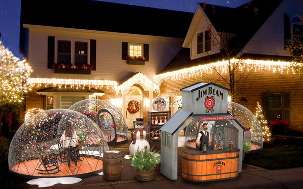 Marketing Daily: Is This A Dream? Sipping Jim Beam Cocktails In Giant Snowglobes — In Your Driveway photo