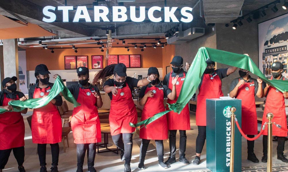 Starbucks Flagship Store Opens At The V&a Waterfront photo