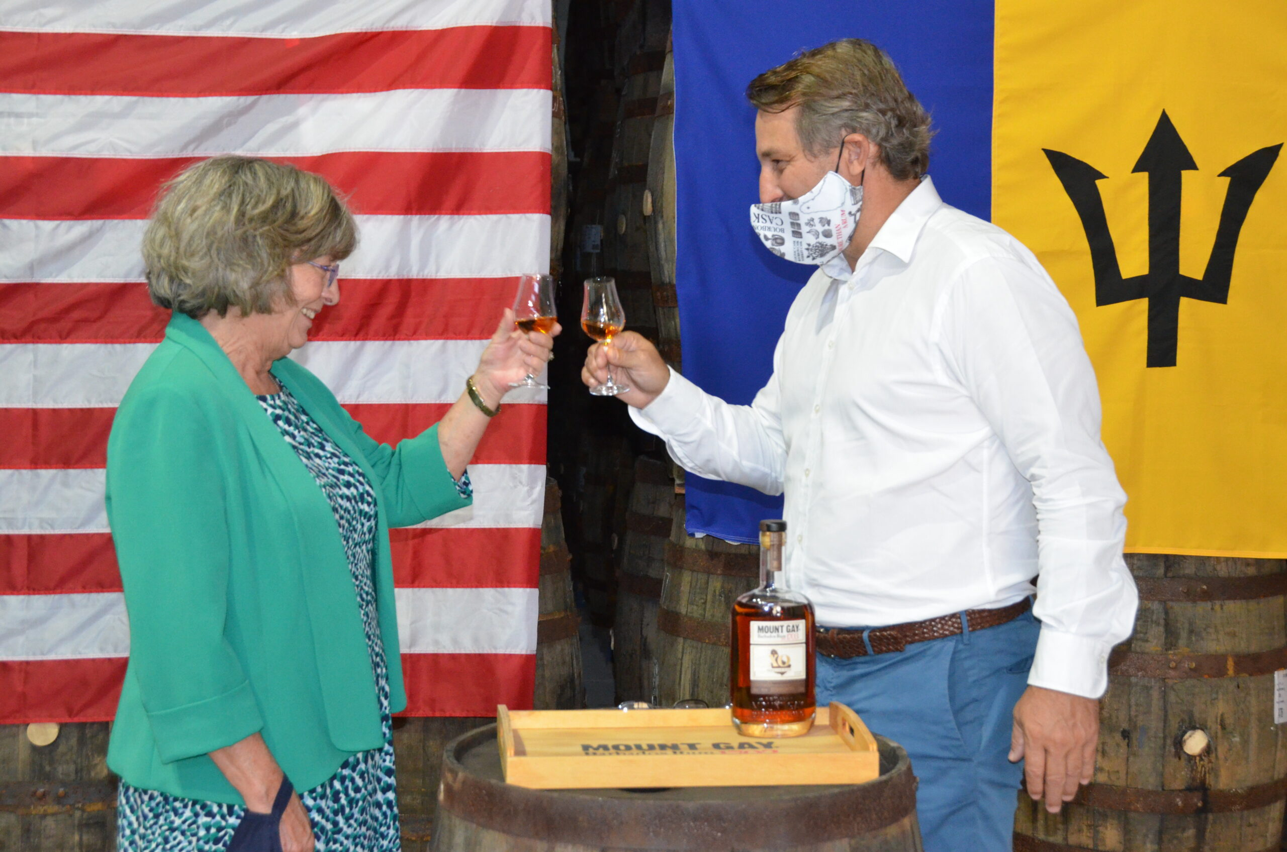 U.s. Ambassador Toasts Inauguration At Mount Gay photo