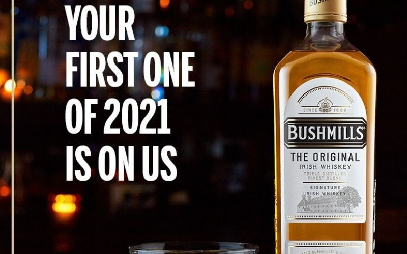 Free Bushmills Irish Whiskey For Every American Who Wants It To Start 2021 photo
