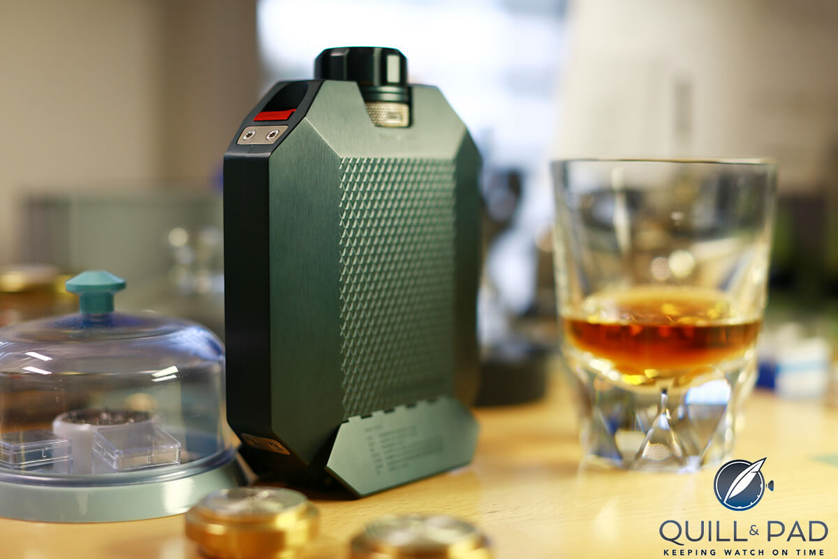 Make Mine A Double! The Macallan Whisky Mechanical Hip Flask By Urwerk (with Video) photo