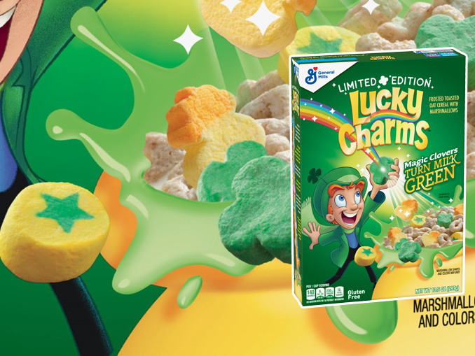 New Limited-edition Lucky Charms Will Turn Your Milk Green photo