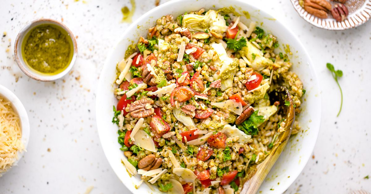Menu Planner: Farro With Pesto,  Tomatoes And Pecans Hits The Spot photo