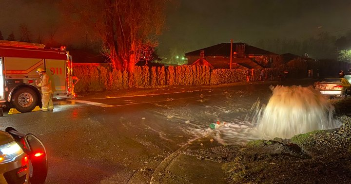 Suspected Drunk Driver Shears Off Fire Hydrant, Flooding Two Burnaby Homes photo