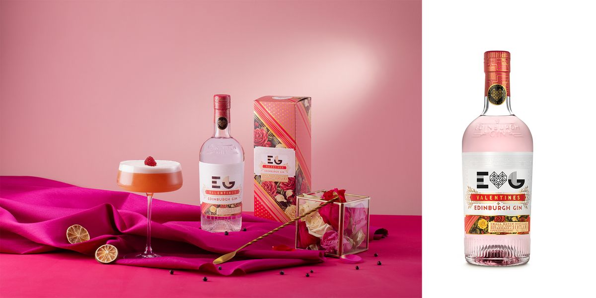 You Can Personalise Edinburgh Gin's Blush Valentine's Gin With Your Initials And A Little Heart photo