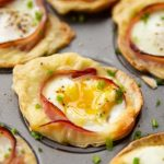 Breakfast Tortilla Cups With Ham, Cheese And Egg photo