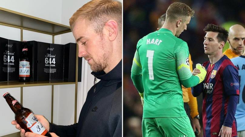 Joe Hart Posts Heartfelt Instagram About Receiving Lionel Messi's Bottles Of Budweiser photo