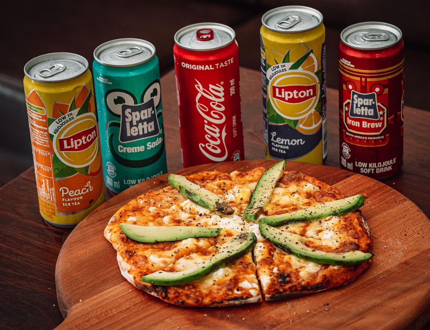 Medium Pizza and Cold drink photo