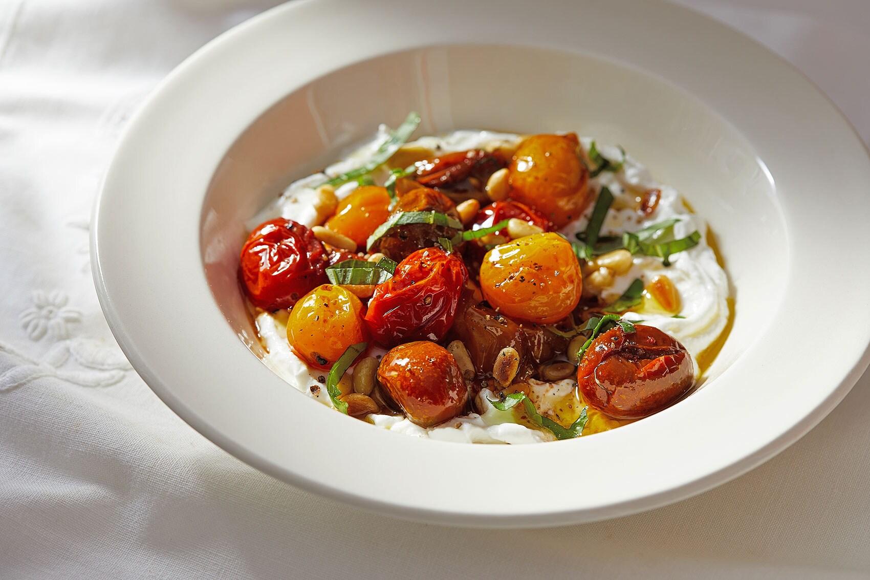 Savory Yogurt Bowl With Roasted Tomatoes photo
