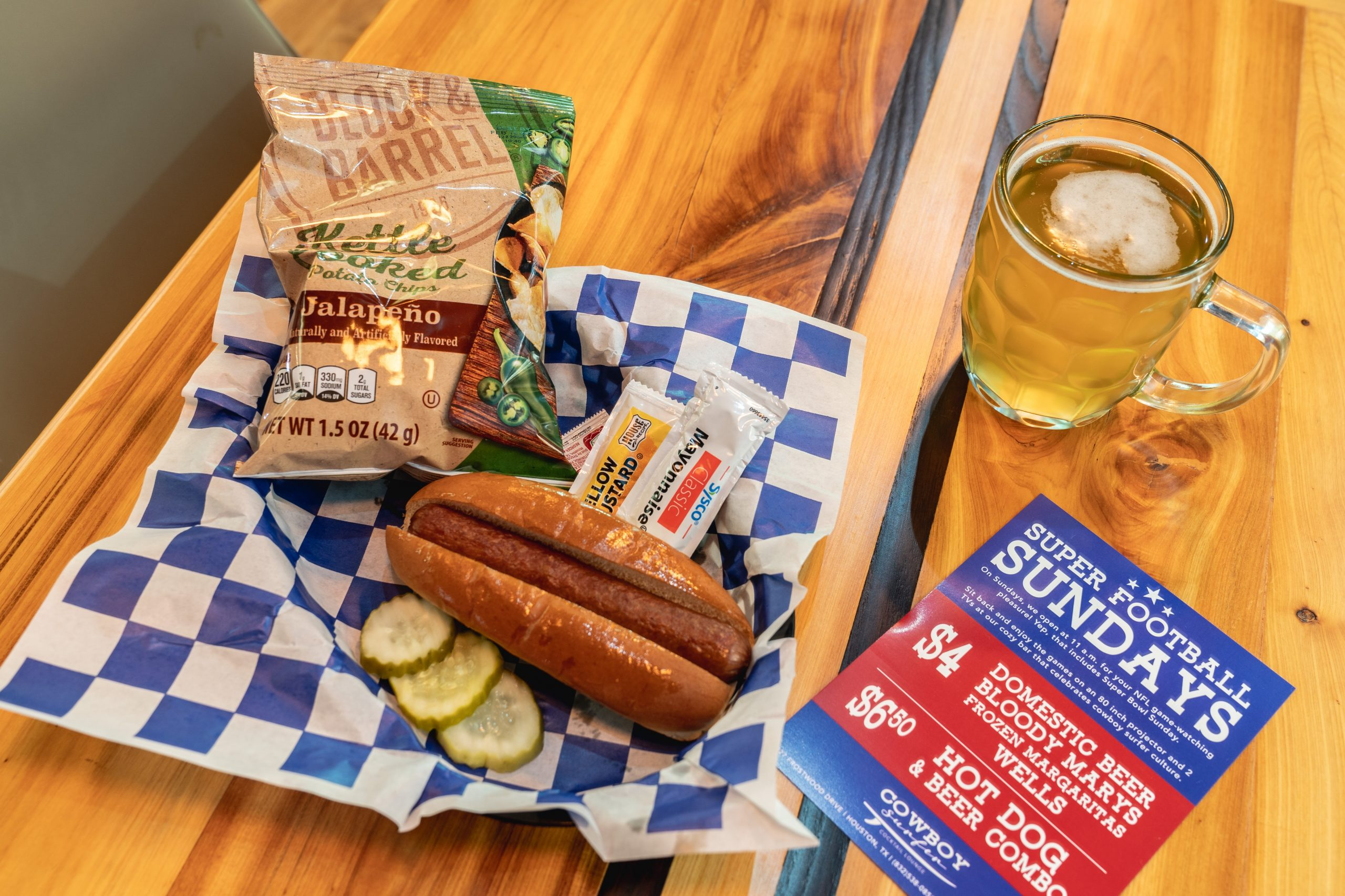 This Week In Houston Food Events: Get A Game Day Hot Dog And Beer Combo At Cowboy Surfer photo