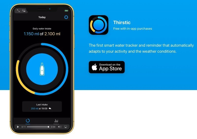 Thirstic Tells You How Much Water To Drink Based On Activity & The Weather photo