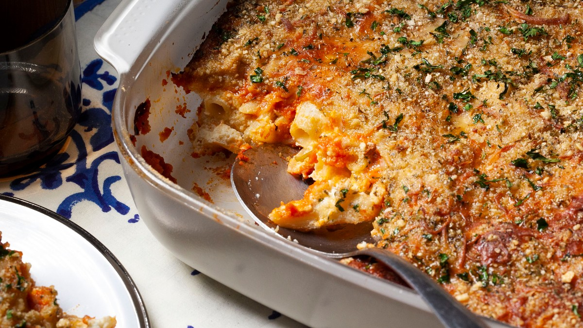 Baked Penne In Tomato-basil Sauce Recipe photo