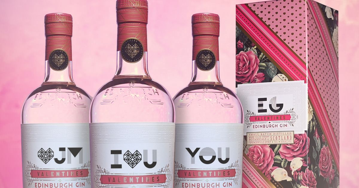 Edinburgh Gin Offers Personalised Valentine's Day Bottles For Limited Ed Flavour photo