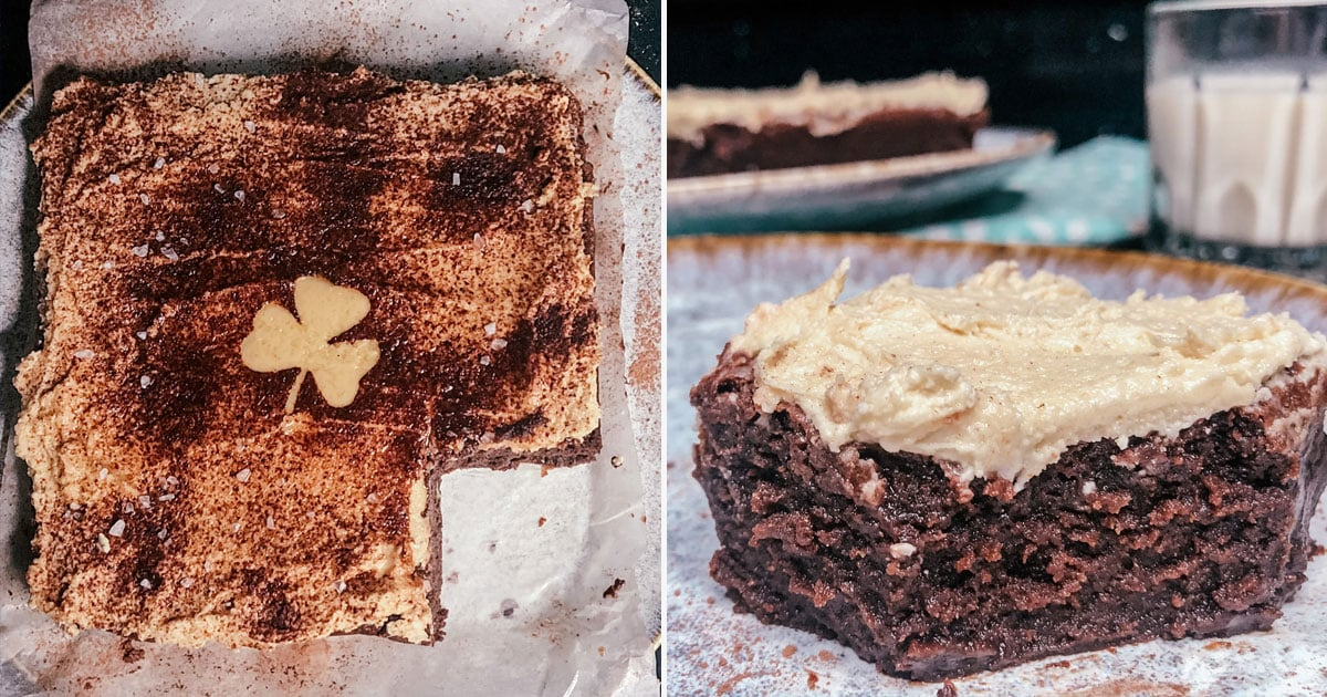 These Extrafudgy Guinness Brownies Are Covered In Frosting For The Perfect St. Paddy's Day Treat photo