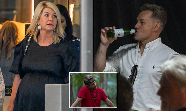 Grant Denyer Drinks A Beer At The I'm A Celebrity Wrap Party In Sydney photo