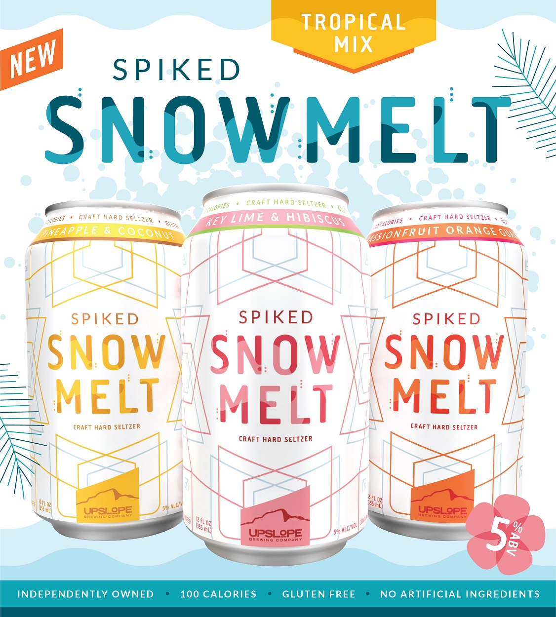 Upslope Brewing Co. Adds Spiked Snowmelt Hard Seltzer Tropical Variety Pack photo