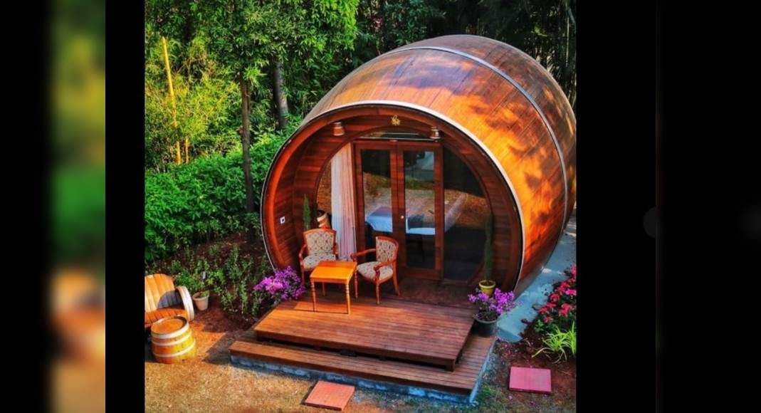 Quirky Stays: You Now Can Stay Inside A Real Wine Barrel In This Nashik Vineyard photo