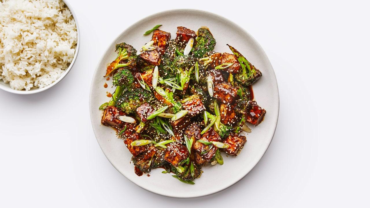 Sesame Tofu With Broccoli photo