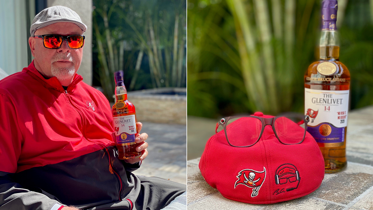 Bucs' Bruce Arians Gifted Special Bottle Of The Glenlivet 14 Year Old After Super Bowl Lv Win photo