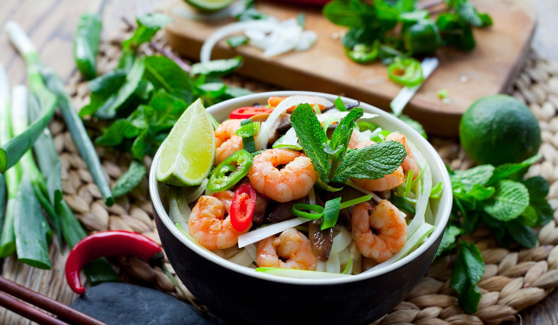 Pan-fried Prawn And Pineapple Salad With A Lime Dressing photo