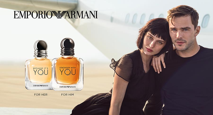 Introducing Nicholas Hoult And Alice Pagani In Emporio Armani's New Love Story photo