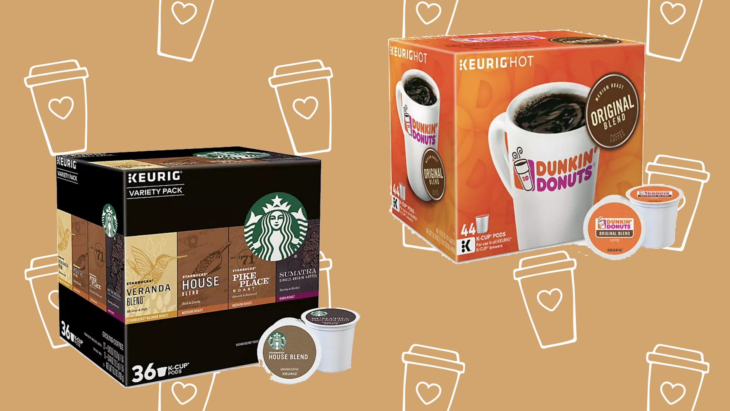 You Can Get Tons Of K-cups From Starbucks, Dunkin' And More At Up To 50% Off photo