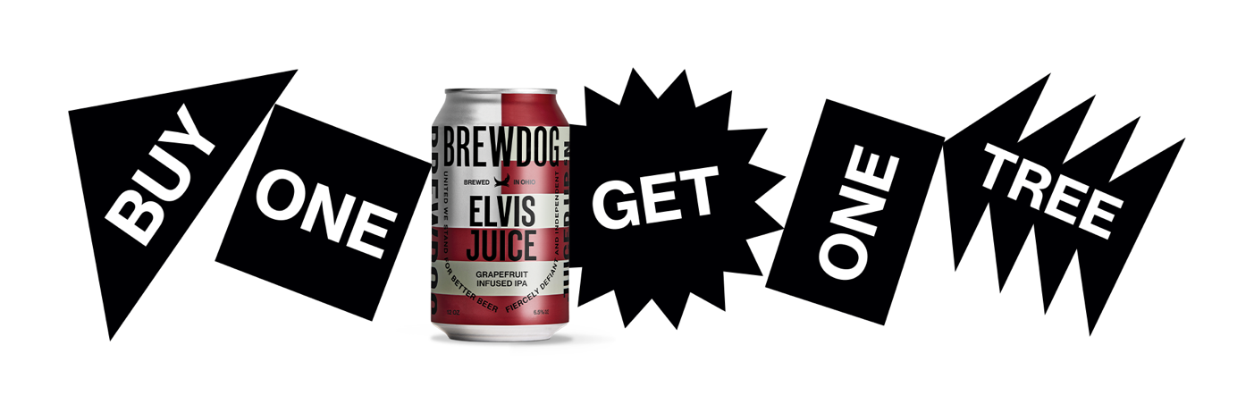 Brewdog Launches Buy One Get One Tree Initiative photo