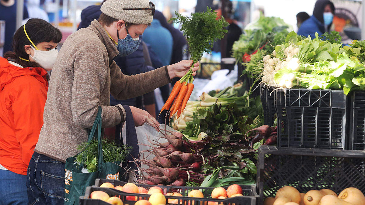 A Visit To The Farmers' Market Lifts The Spirits On Winter Days photo