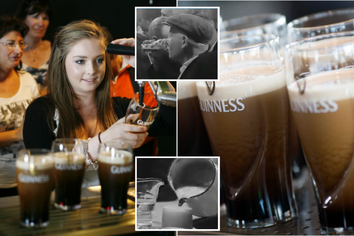 How Pouring Perfect Guinness Pint Evolved From 1900s To Today's Iconic Method photo