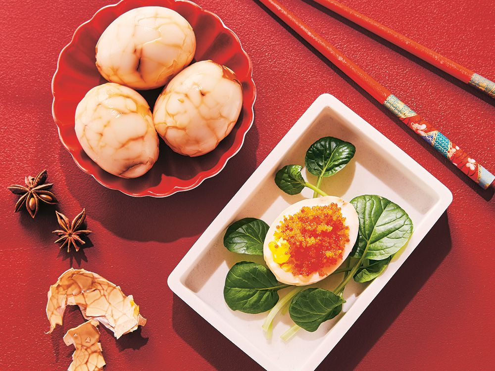Cook This: Marble Tea Eggs From The Double Happiness Cookbook photo