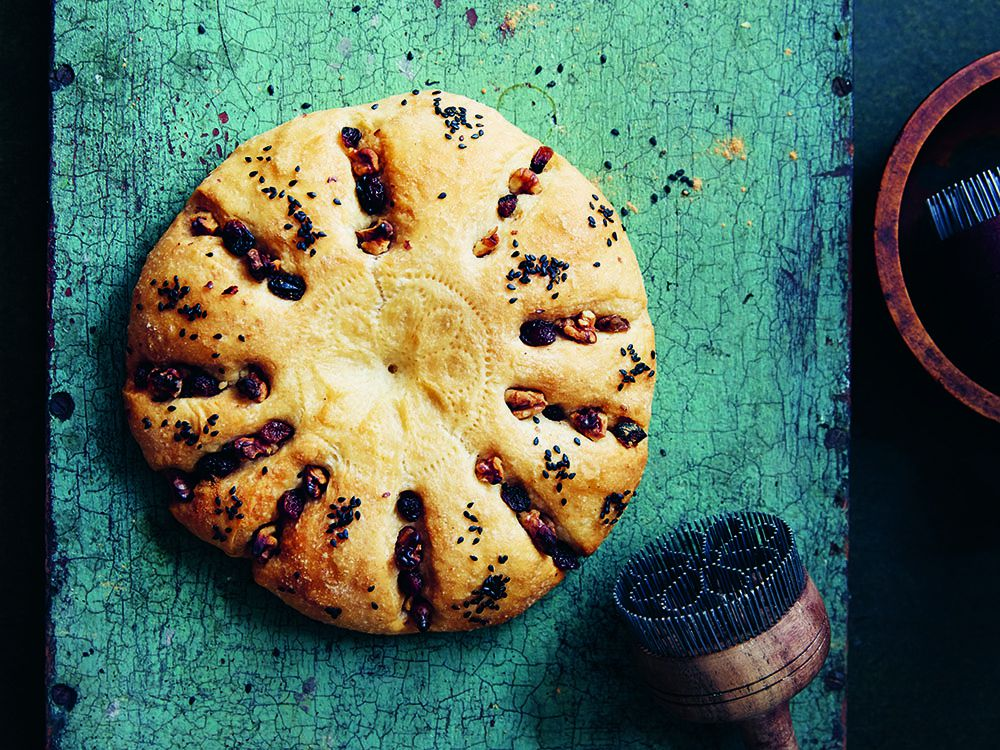 Cook This: Old Tashkent Non Bread With Raisins And Walnuts, From Red Sands photo