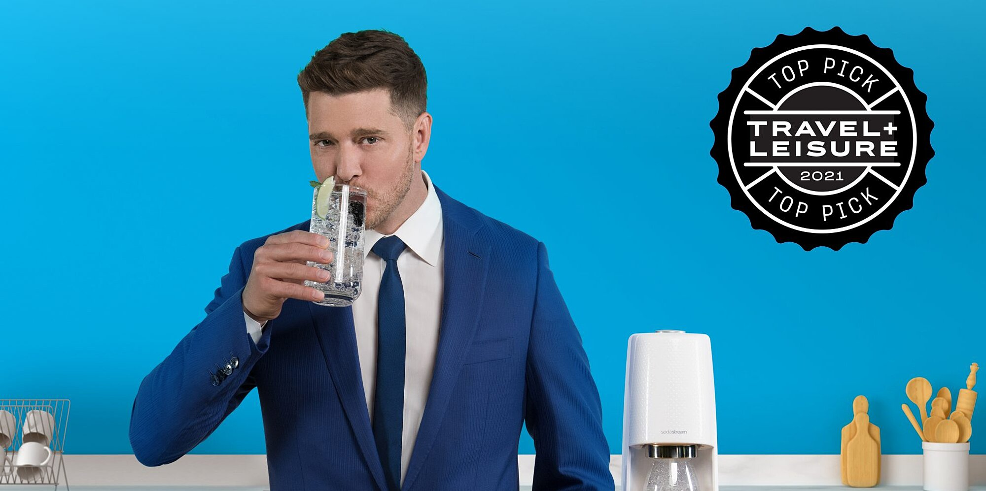 Michael Bublé Talks Bubly's Sodastream Collab, His New Album, And Where He Misses Traveling Most photo