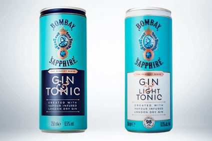 Bacardi Takes Bombay Sapphire Gin & Tonic And G&t Light Rtd To Us photo