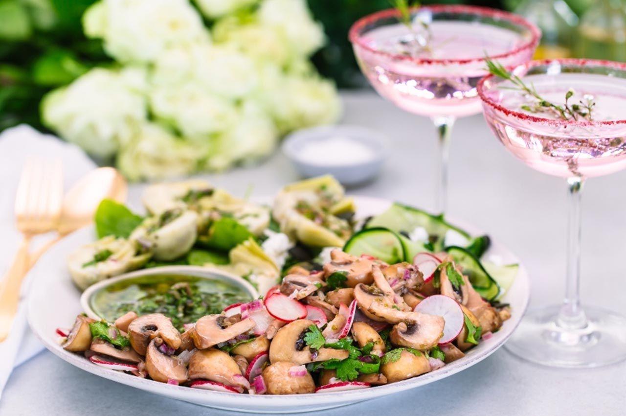 Artichoke & White Button Mushroom Salad photo